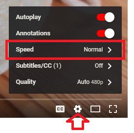 Control YouTube speed