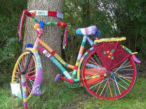 yarn bomb bike