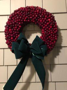 Nantucket cranberry wreath