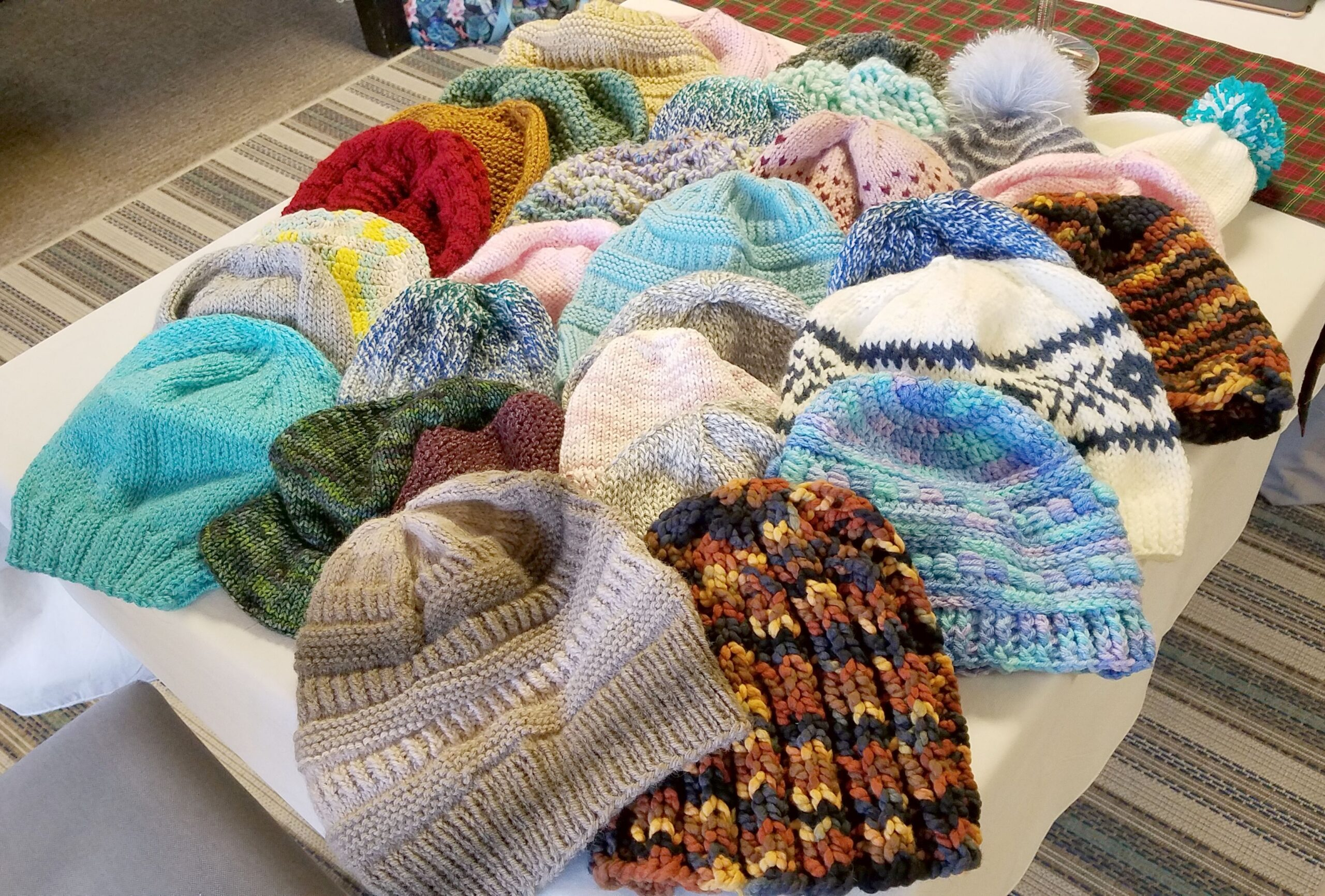 Hats for the cancer center